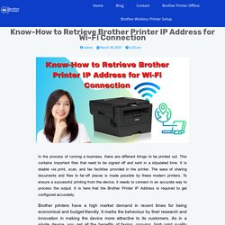 Know-How to Retrieve Brother Printer IP Address for Wi-Fi Connection