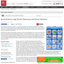 Book Retriever App Tracks Classroom and Home Libraries