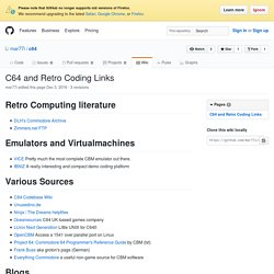 C64 and Retro Coding Links · mar77i/c64 Wiki