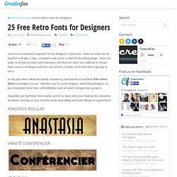 25 Free Retro Fonts