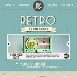 Retro Portfolio - One Page Vintage Wordpress Theme Preview