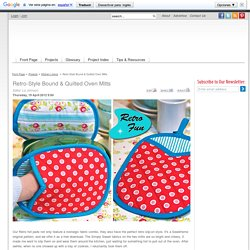 Retro Fun: Quilted Mitt Pot Holders