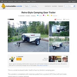 Retro-Style Camping Gear Trailer: 8 Steps