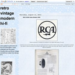 retro vintage modern hi-fi: RCA 515S2 Data Sheets 1950