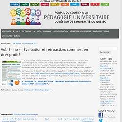 Evaluation & rétroactions (2012)