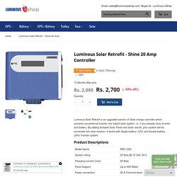 Solar Retrofit Converter Normal Inverter into Solar – Luminous eShop