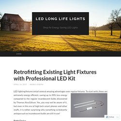 Change your Old Fluorescent light Fixture with Long Lasting LED Lights