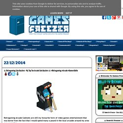 ☆ Retrogaming Coin Guzzlers - My Top Ten Arcade Coin Guzzlers ☆ #Retrogaming #Arcade #GamersUnite