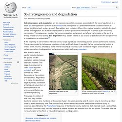 Soil retrogression and degradation