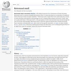 Retronasal smell