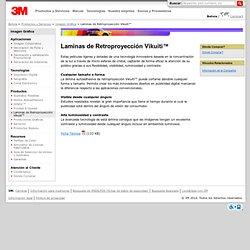 3M Bolivia: Imagen Gráfica: Laminas de Retroproyección Vikuiti™