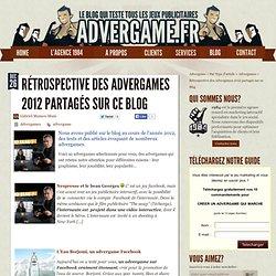 Rétrospective des advergames 2012 partagés sur le blog