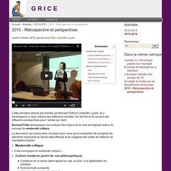 2015 - Rétrospective et perspectives - G R I C E
