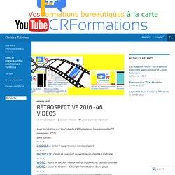 Rétrospective 2016 -46 vidéos