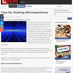 Tips for Scaling Retrospectives/