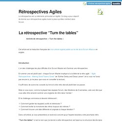 "Rétrospectives Agiles — La rétrospective ""Turn the tables"""
