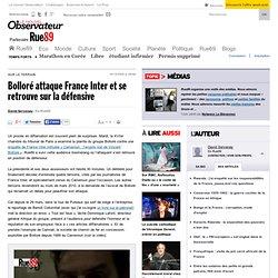 Bolloré attaque France Inter et se retrouve sur la défensive