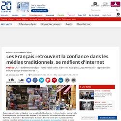 Les Français retrouvent la confiance dans les médias traditionnels, se méfient d'Internet