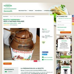 Pâte à tartiner pralinée par karineo. Une recette de fan à retrouver dans la catégorie Sauces, dips et pâtes à tartiner sur www.espace-recettes.fr, de Thermomix<sup>®</sup>.