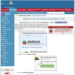 Retrouver la barre des modules complémentaires - Firefox