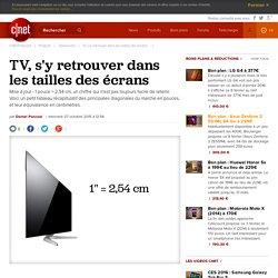 TV, s'y retrouver dans les tailles des écrans -