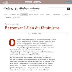 Retrouver l'élan du féminisme, par Christine Delphy (Le Monde diplomatique, mai 2004)