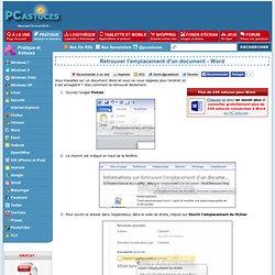 Retrouver l'emplacement d'un document - Word