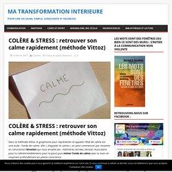 COLÈRE & STRESS : retrouver son calme rapidement (méthode Vittoz)