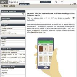 Application Gallica tablette smartphone catalogue livres numériques format epub