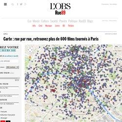 Carte: rue par rue, retrouvez plus de 600films tournés à Paris
