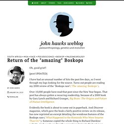 "Return of the ""amazing"" Boskops"