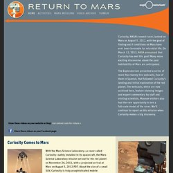 Return to Mars: 2012 Rover Curiosity—Live Video