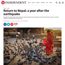 Return to Nepal: a year after the earthquake