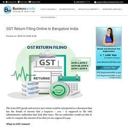 GST Return Filing Online in Bangalore India