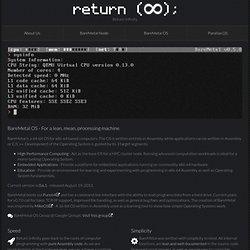 Return Infinity - BareMetal OS