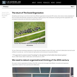 The return of The Social Organization | LeaderLab