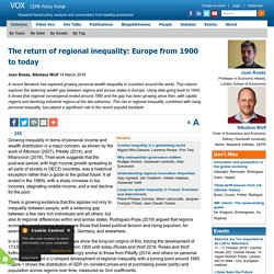 Europe's regional inequality from 1900 to today