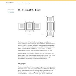 The Return of the Scroll