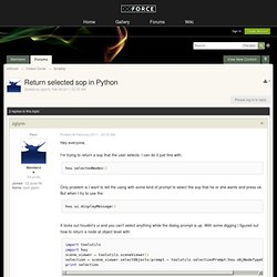 Return selected sop in Python