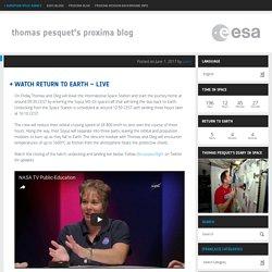 Thomas Pesquet's Proxima blog