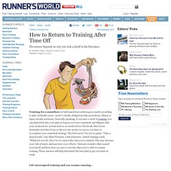 How to Return to Training After Time Off