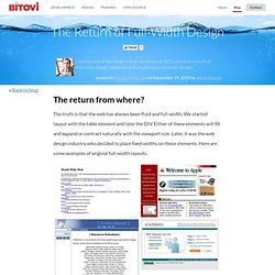 The Return of Full-Width Design · Bitovi.com