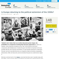 Is Europe returning to the political extremism of the 1930s? — Debating Europe