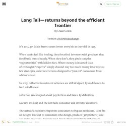 Long Tail — returns beyond the efficient frontier — The FINTECH Book