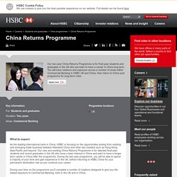 China Returns Programme - Careers – HSBC Holdings plc