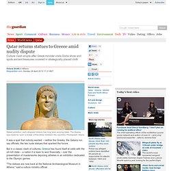 Qatar returns statues to Greece amid nudity dispute