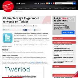 20 simple ways to get more retweets on Twitter