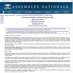 Compte rendu de réunion de la commission de la défense nationale et des forces armées