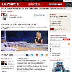 Réunion de crise à la rédaction de TF1