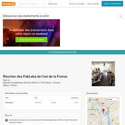 Réunion des FabLabs de l'est de la France- Eventbrite
